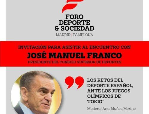 FORO DEPORTE Y SOCIEDAD – JOSE MANUEL FRANCO (CSD)